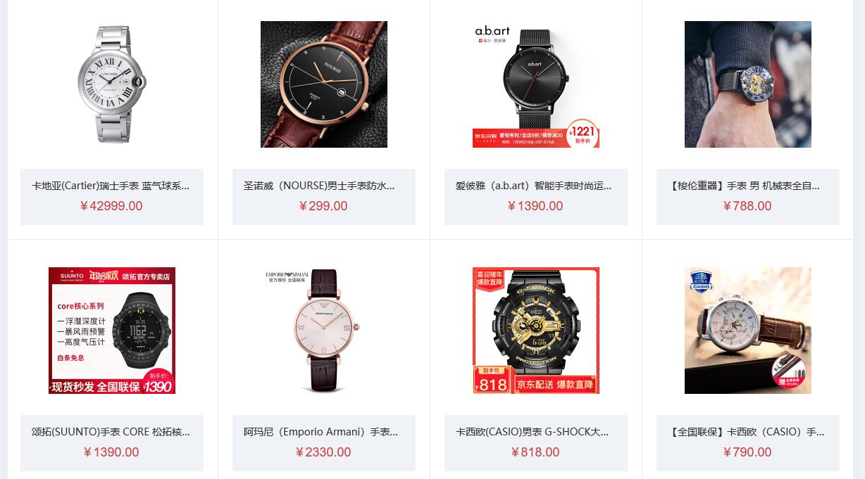 Order đồng hồ các loại từ web taobao, tmall, 1688
